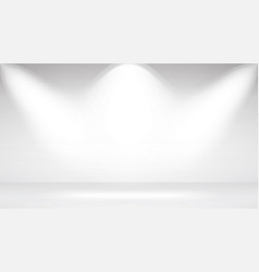 Photo studio room empty white interior realistic vector