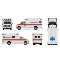 Realistic ambulance car vector