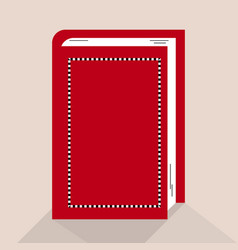 red book in vector image