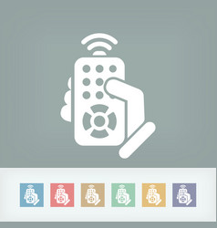 remote control concept icon vector image