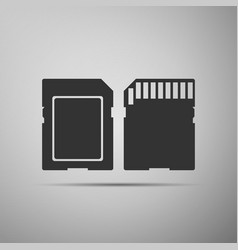 Sd card icon memory card adapter icon vector