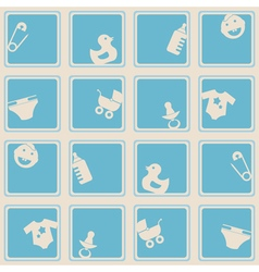 Seamless background with baby stuff vector