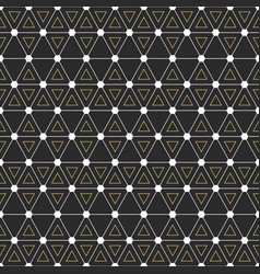 seamless geometric pattern with interweaving thin vector image