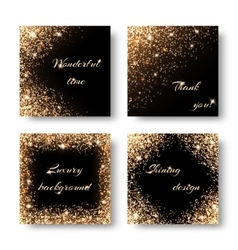 Set of bokeh lights vector