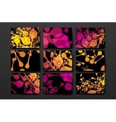 Set of modern design banner template in DNA vector image