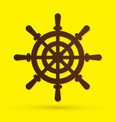 ship steering wheel designed grunge brush graphic vector image