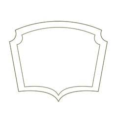 Silhouette border heraldic decorative frame vector