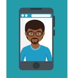 smartphone with user icon vector image