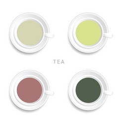 Tea cup drink vector