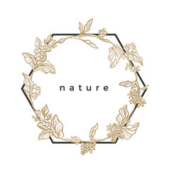 template nature frame vector image