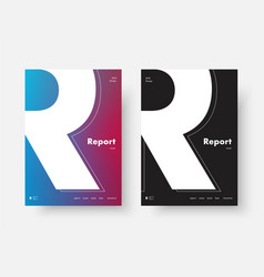 template of a modern annual report cover with the vector image