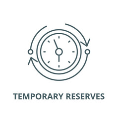 Temporary reserves line icon linear vector