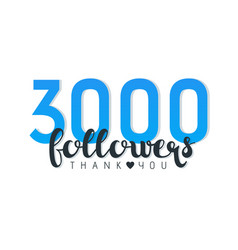 Three thousand followers banner vector