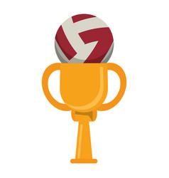 Trophy volleyball ball winner vector
