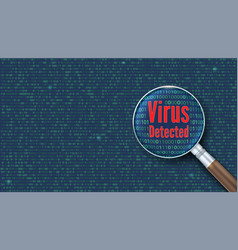 Virus detected scanning and identifying a vector
