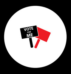 Vote me election board simple silhouette icon vector