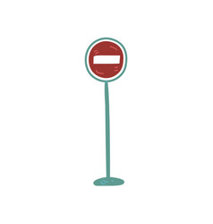 warning road sign urban architecture design vector image