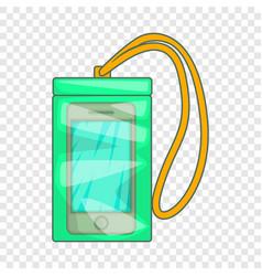 Waterprophone case icon cartoon style vector