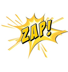 Zap flash on white vector