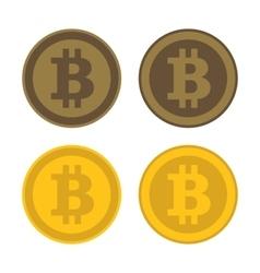 Bitcoin Icon Logo Set vector image