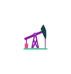 Oil derrick Icon vector image vector image