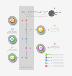 abstract element for business strategy in stages vector image