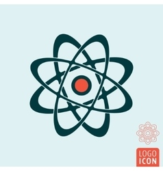 Atom icon isolated vector image