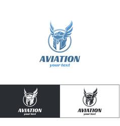 aviation logo design one vector image vector image