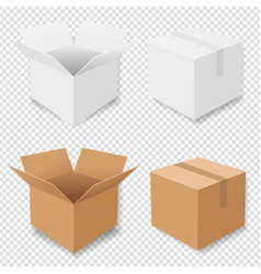 Boxes set isolated vector