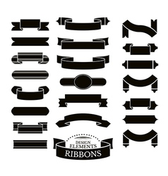 Collection of different ribbons vector image vector image