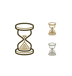 hourglass icons vector image vector image