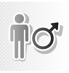 male sign new year blackish vector image vector image
