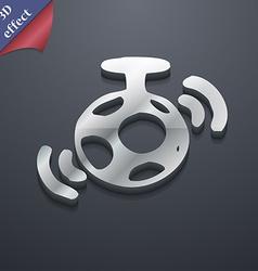 mirror ball disco icon symbol 3D style Trendy vector image vector image