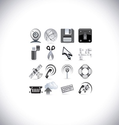 web signal icons vector image