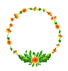 wreath circle frame with the watercolor vector image vector image