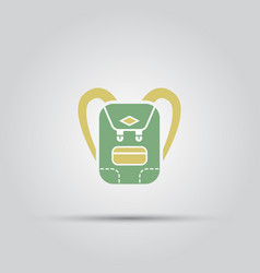backpack isolated colored icon vector image vector image