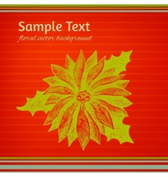 Colorful red and green Christmas winterberry vector image
