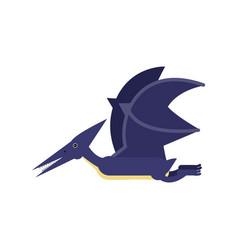 cute cartoon blue pterosaurs dinosaur prehistoric vector image