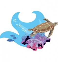 underwater fish vector image