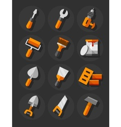 Working tools icons vector image vector image