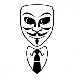 anonymous symbol vector image vector image