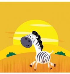cartoon Zebra vector image vector image