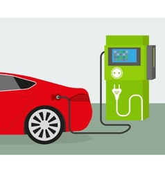 Electric car charging vector image vector image