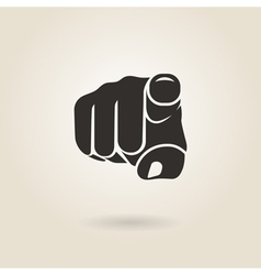 finger pointing vector image