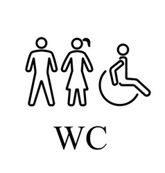 wc for people vector image
