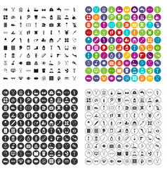 100 disabled healthcare icons set variant vector image