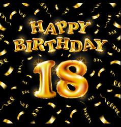 18 happy birthday message made golden vector