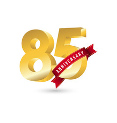 85 year anniversary template design vector