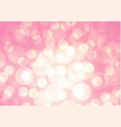 abstract soft pink light bokeh background vector image