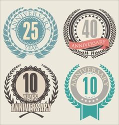 Anniversary laurel wreath vector